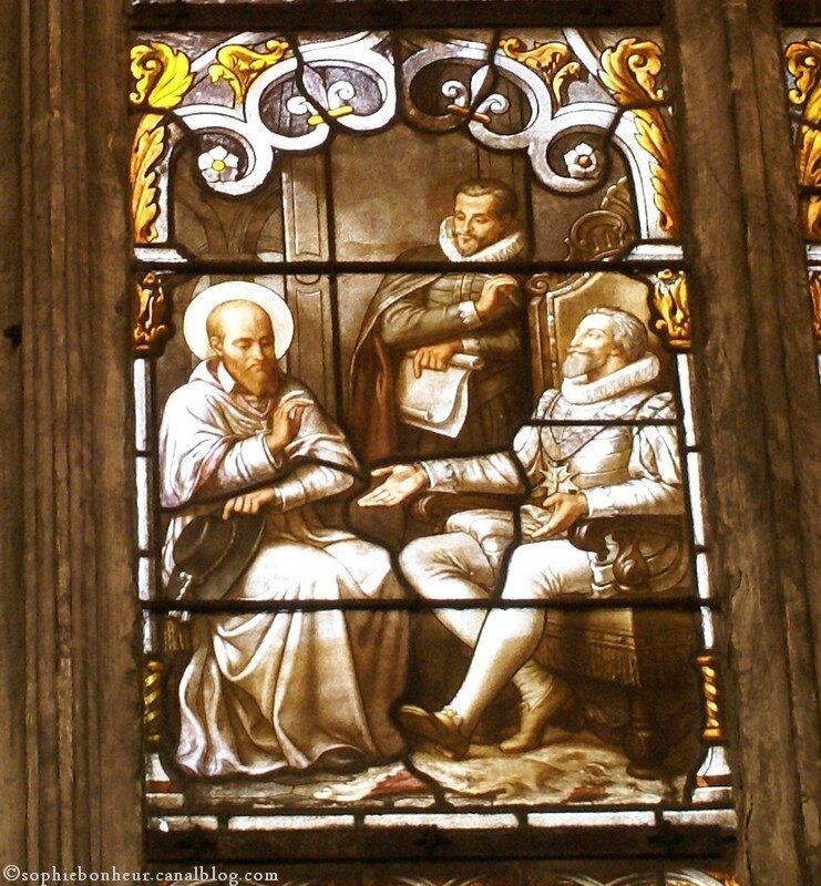 St Nizier détail vitrail