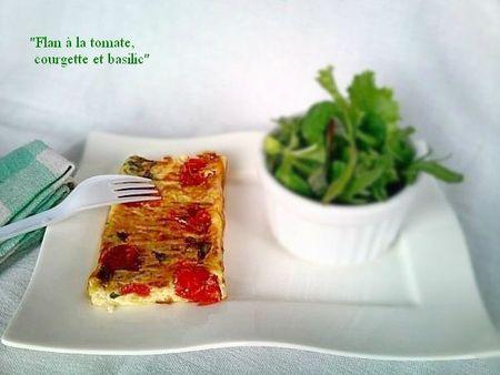 Flan à la tomate, à la courgette et basilic1