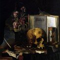 Simon RENARD DE SAINT-ANDR (Paris 1613-1677) Nature morte  la Vanit, Huile sur toile, Collection particulire