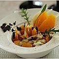 Salade d'agrumes et églefin.........