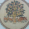 Mosaique byzantine en jordanie.