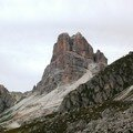 Passo di Giau: vue sur le massif de la Gusella.