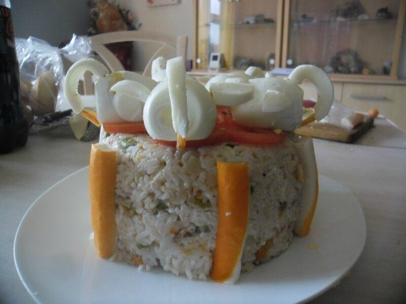 Gateau salade de riz mac doine surimi thon une souris for Une souris dans ma cuisine