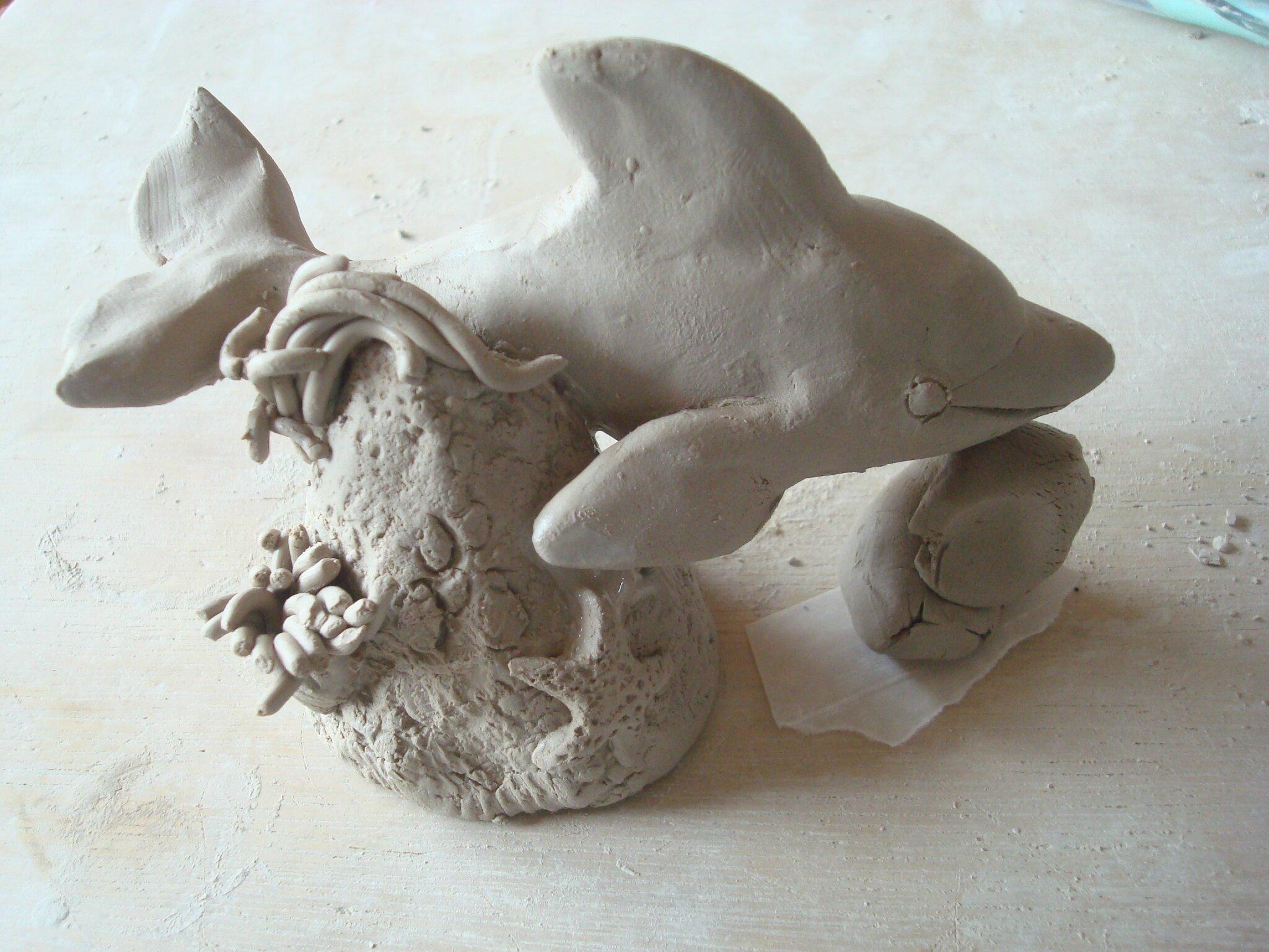 34) Mon dauphin et son rocher sont terminés