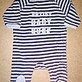 Pyjama à ouverture sur le côté, 3 mois