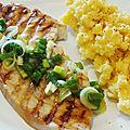 Espadon grillé au citron et sa polenta