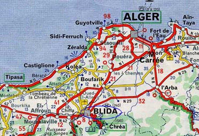 Carte_Michelin_Blida_Algérie