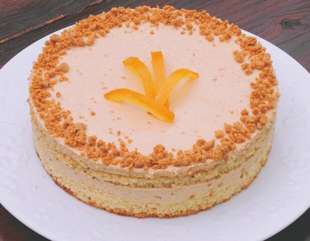 Moelleux amande noisette mousse speculoos chocolat blanc