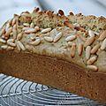 Cake salé aux courgettes et curcuma sans gluten ni produits laitiers