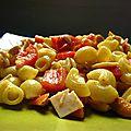 Salade de pâtes noix de cajou et mayonnaise au curry