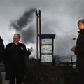 Devant l'incinérateur avec H.Lotfi et G.Bertrand