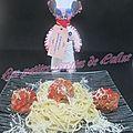 Spaghettis aux boulettes de boeuf