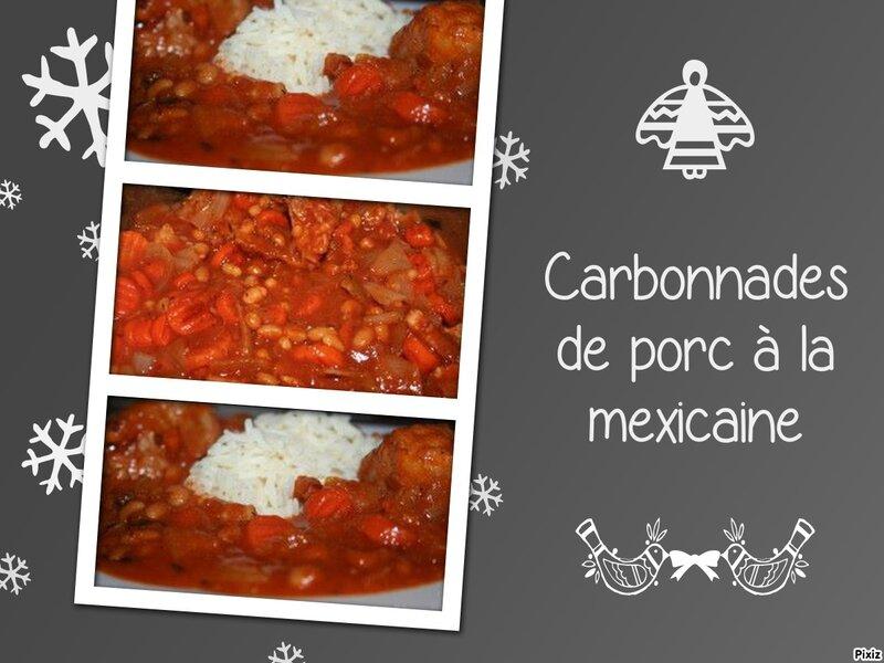 Carbonnades de porc la mexicaine tous en cuisine avec nadine - Carbonade de porc grillee ...