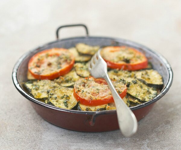 GRATIN COURGETTES TOMATES