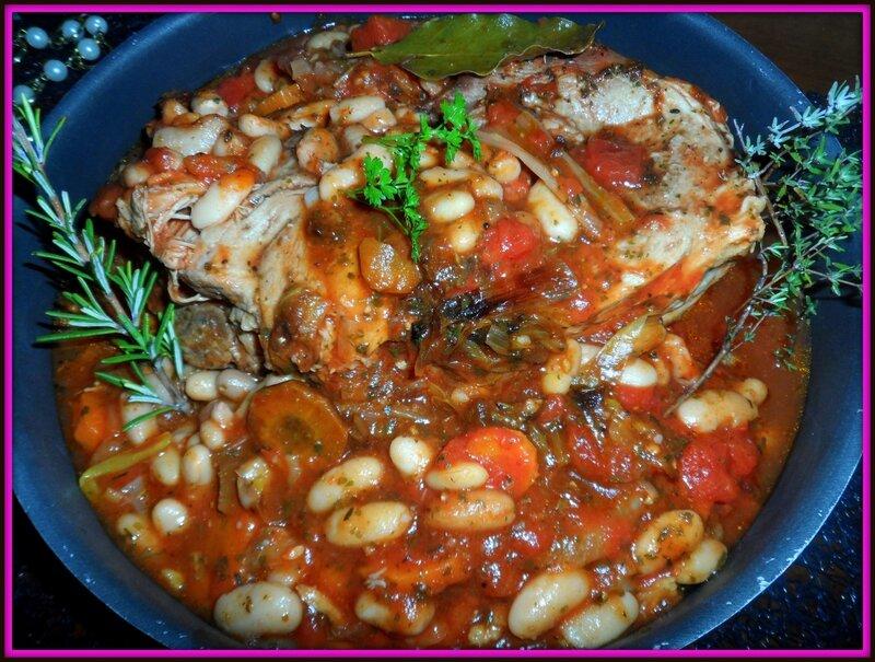 Rouelle de porc sauce tomate aux haricots blancs - Cuisiner rouelle de porc en cocotte minute ...