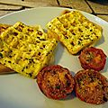 Omelettes gaufrees sur gaufres salees (thermomix)