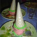 Gâteau château princesse rose coupé