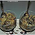 Verrine de champignons et escargots a la creme