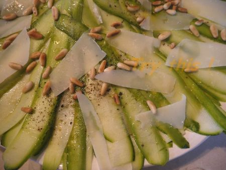 Carpaccio courgettes