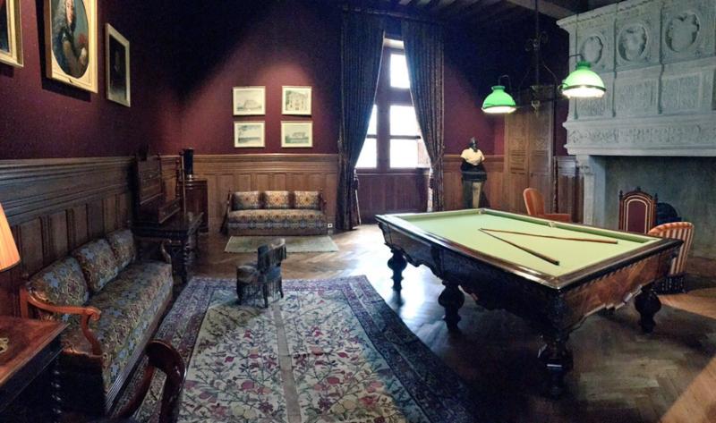salle de billard du château d'Azay-Le-Rideau - CMN