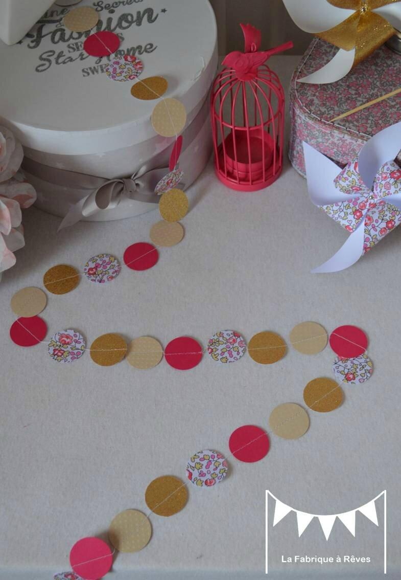 Décoration chambre bébé fille enfant liberty héloise fuchsia rose ...