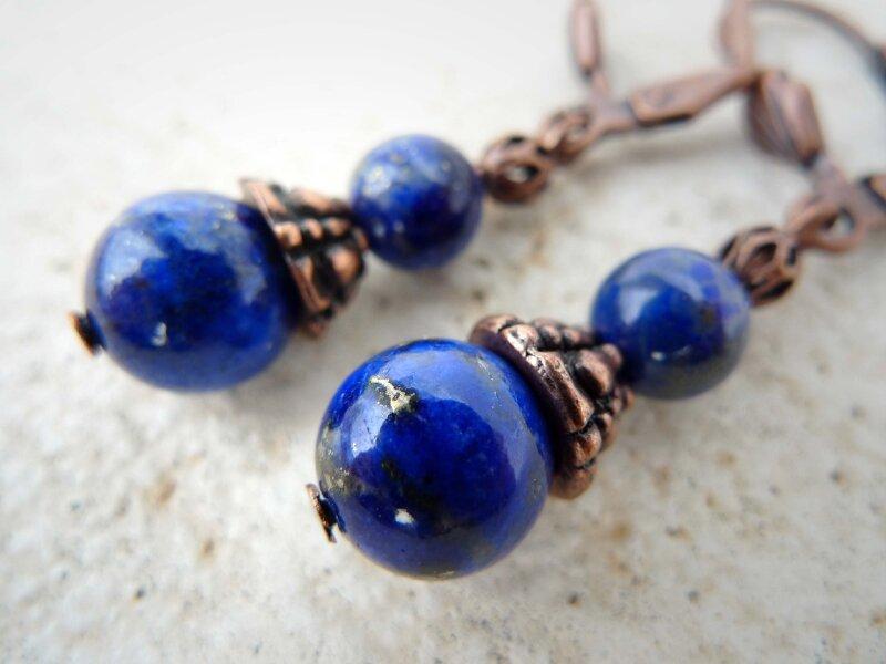 Lapis Lazuli 1 métal cuivré