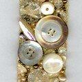 Bracelet boutons beiges