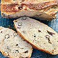 Le pain ecureuil (farine d'épeautre et noisettes)
