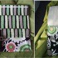 Pochette à fleurs vertes
