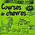 Course de chèvre à pont-du-fossé le 1° août 2013