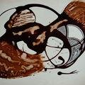 (4) peintures sur papier (format raisin)