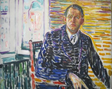 Autoportrait dans la clinique du Dr Jacobson 1909