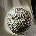 Hervé THAREL SCHMIMBLOCK'S erda 2015 - acrylique sur argile Ø ± 30cm 32