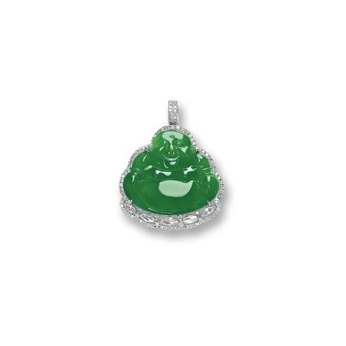 Jadeite 'Buddha' and Diamond Pendant