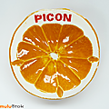 Objet pub ... cendrier picon * orange