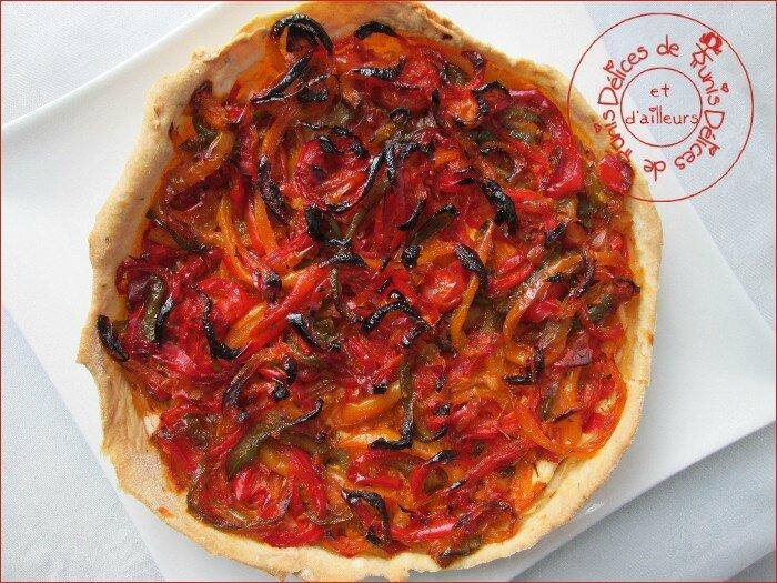 tarte 3 poivrons - chèvre frais 2