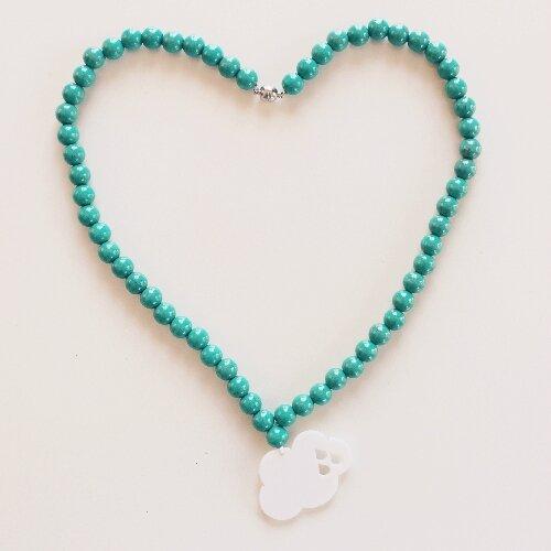 Collier nuage perles vert d'eau - 35€