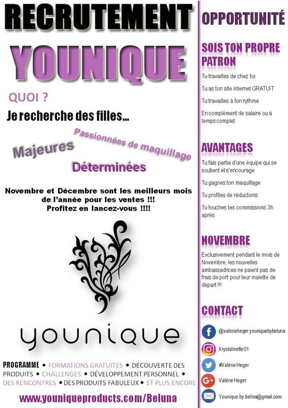 Recrutement Younique