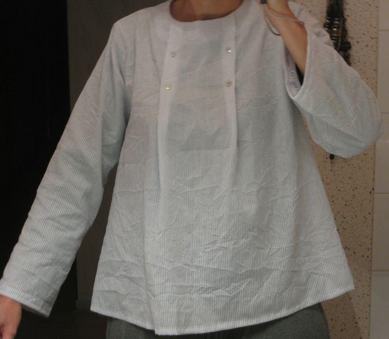 coton japonais froissé ciel marine blanc