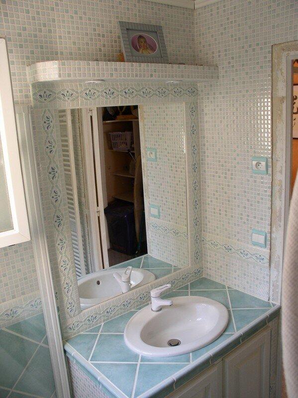 salle de bain mosaique verte salle de bain mosaique vert pastel sarl madibat - Une Salle De Bain Orthographe