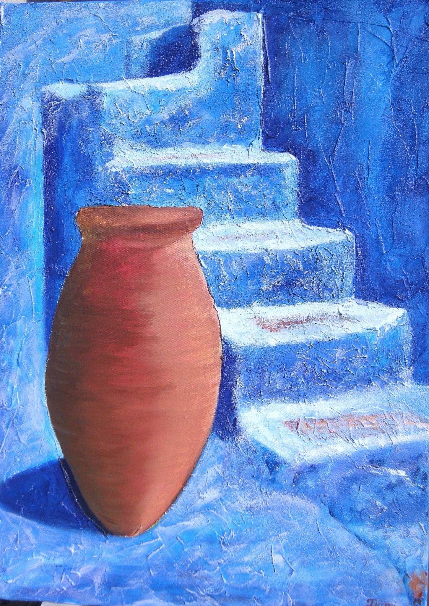 Peinture d 39 une poterie d 39 aubagne domi dessins et peintures for Colorie de peinture