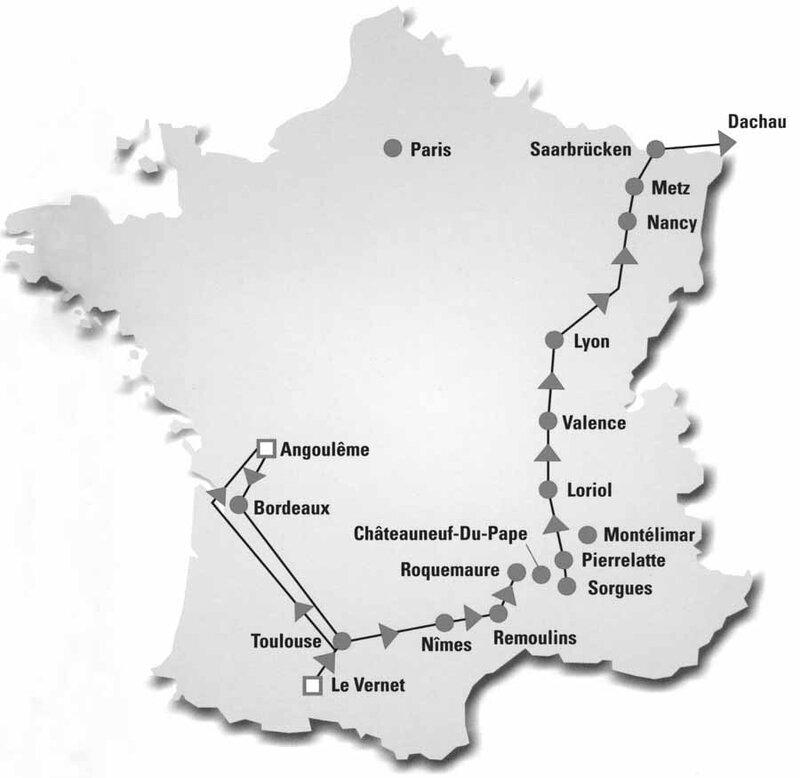 G. Bökel-Le parcours du train fantôme, Der Weg des Geisterzuges