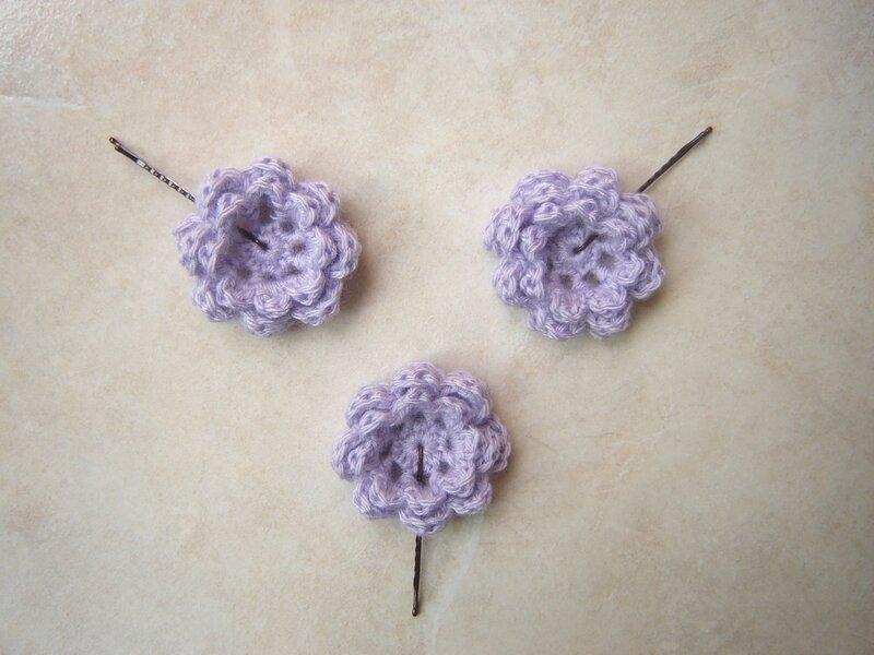 Barrettes violettes