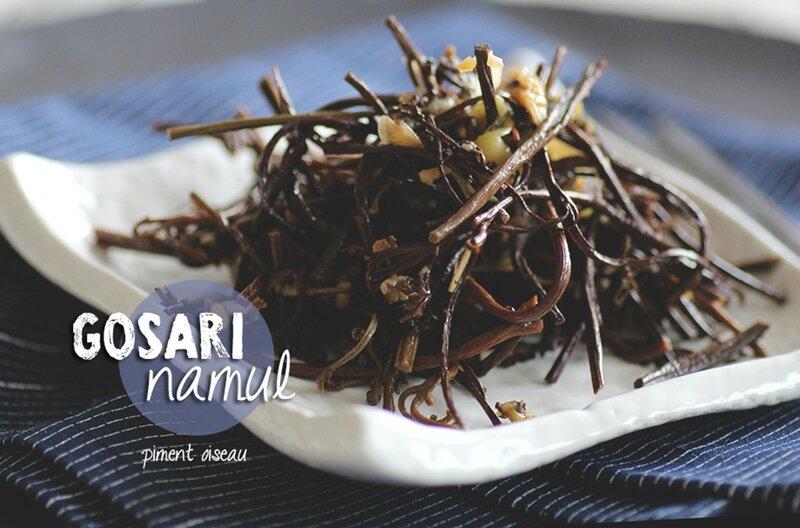 gosari namul- fougères à la coréenne - korean style fern