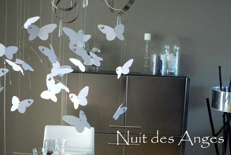 Nuit des anges décoratrice de mariage décoration de table papillons 018