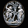 Hellenistic cameo, 6th-1st bc. poseidon and athena in contest for the domination of attica