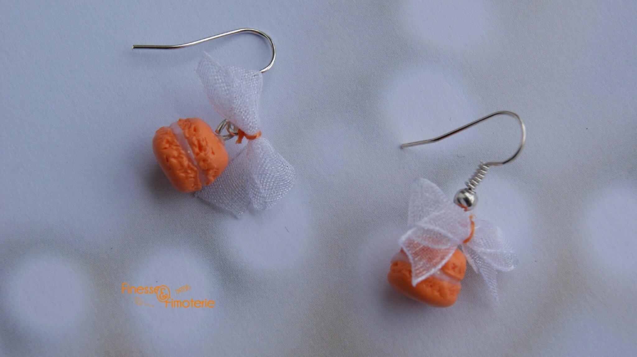 boucle macaron orange vif