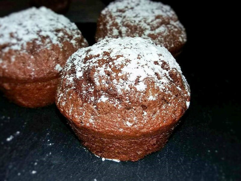 Muffin chocolat, blanc d'oeuf, crème fraîche1