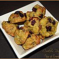 Cookies au roquefort noix et cranberries