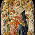 Giovanni dal ponte (ca. 1385, florence, italy - ca. 1438, florence, italy), virgin and child with angels, 1425